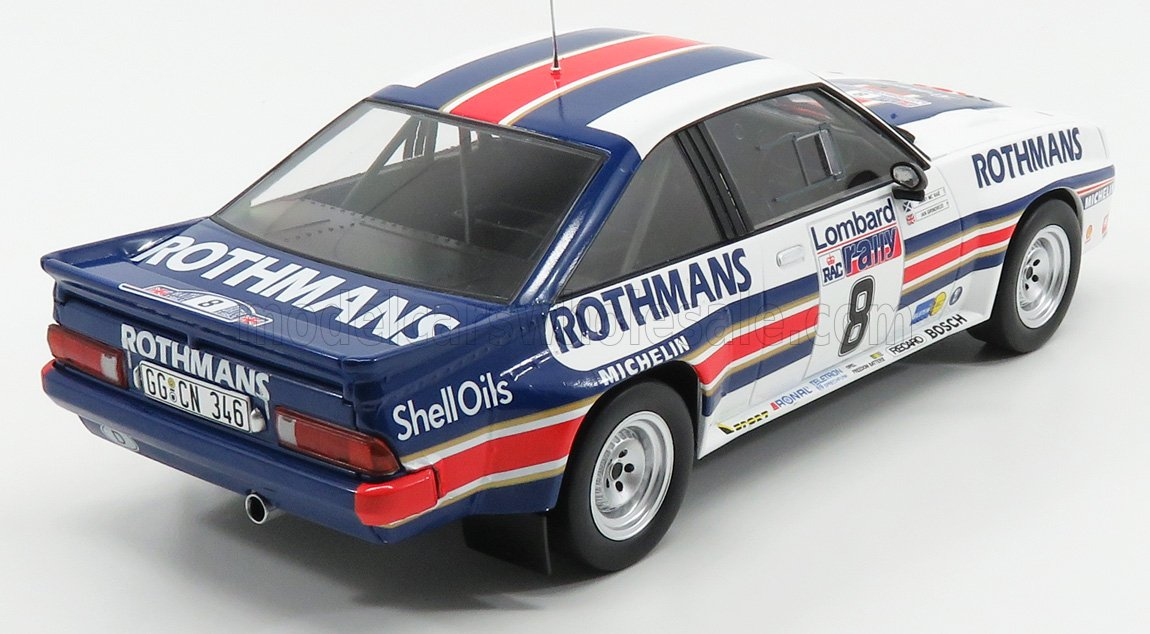 IXO 1//18 Rothmans Opel Manta 400 #8 3RD Lombard RAC Rally 1983 MCRAE//GRINDROD