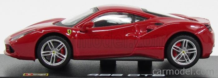 BURAGO BU36904R Масштаб 1/43  FERRARI 488 GTB COUPE 2015 - CON VETRINA - WITH SHOWCASE RED