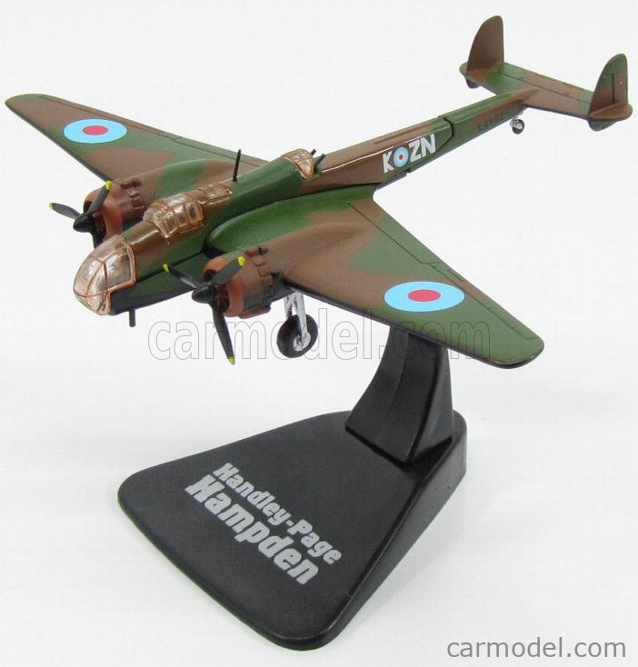 EDICOLA 6120222-2110222 Echelle 1/144  HANDLEY PAGE HAMPDEN BOMBARDIERE 1938 - RAF - ENGLISH AIR FORCE CAMOUFLAGE