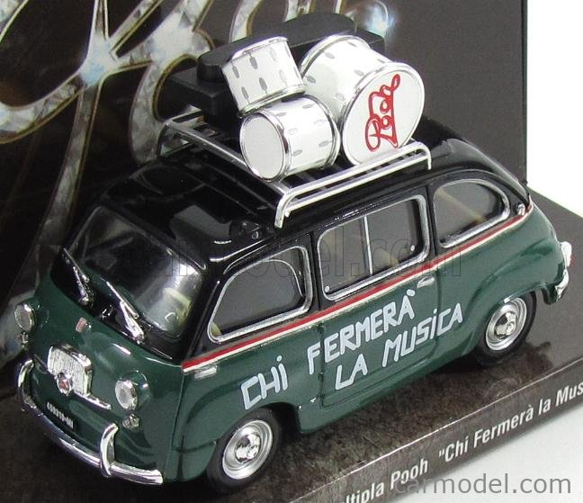 FIAT 600 MULTIPLA 50MO ANNIVERSARIO POOH 1966-2016 1:43 MOVIE BRUMM SCALA