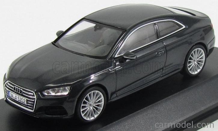 SPARK-MODEL 5011605433 Scale 1/43  AUDI A5 COUPE 2016 MANHATTAN GREY MET