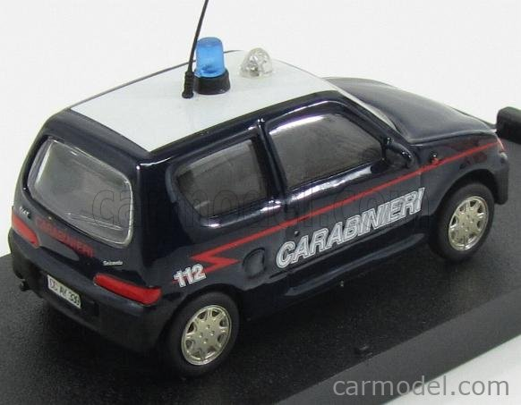 GIOCHER F600C Scale 1/43  FIAT 600 CARABINIERI 1998 DARK BLUE WHITE