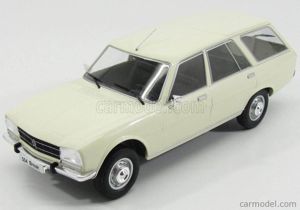 Mcg Mcg18035 Scale 1 18 Peugeot 504 Break Station Wagon 1979 White
