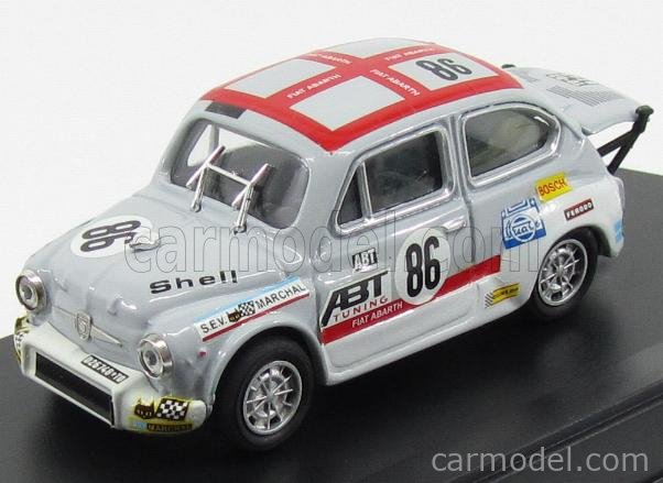 PROGETTO K PK147 Scale 1/43  FIAT 600 ABARTH 1000 TC N 86 PENDOLARE ABT 1970 GREY WHITE