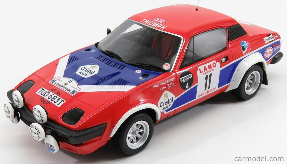 OTTO-MOBILE OT220 Echelle 1/18  TRIUMPH TR7 COUPE V8 Gr.4 N 11 24h D'YPRES 1975 TONY POND - FRED GALLAGHER RED BLUE