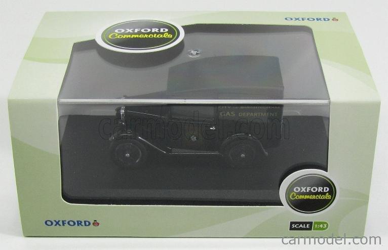 OXFORD-MODELS OX43ASV006 Masstab: 1/43  AUSTIN SEVEN RN VAN GAS CITY OF BIRMINGHAM 1923 BLACK