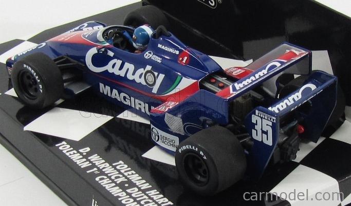 MINICHAMPS 400830035 Masstab: 1/43  TOLEMAN F1  HART TG183 N 35 DUTCH GP 1983 WARWICK BLUE RED