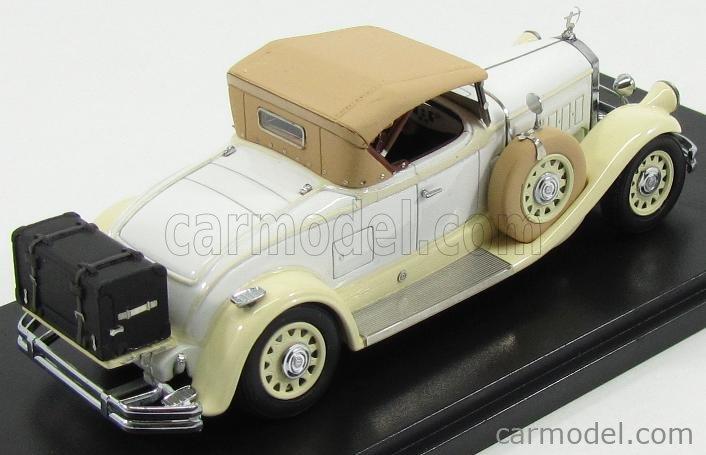 ESVAL MODEL EMEU43006B Scale 1/43  PIERCE ARROW MODEL B ROADSTER CLOSED 1930 BEIGE WHITE