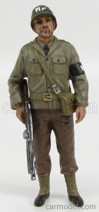 AMERICAN DIORAMA 77416 Echelle 1/18  FIGURES SOLDATO POLIZIOTTO MILITARE CON FUCILE - MILTARY POLICE SOLDIER III WITH RIFLE GUN GREEN BROWN