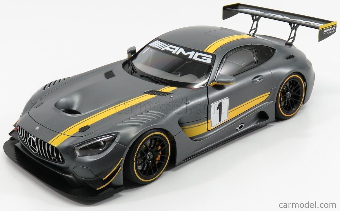 Gray // Yellow Stripe 81530 AUTOart 1:18 Mercedes AMG GT3 Presentation Car