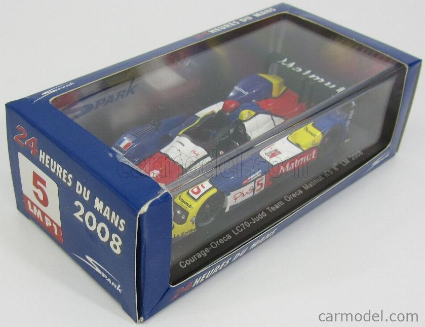 SPARK-MODEL S1426 Echelle 1/43  COURAGE LC70E JUDD TEAM ORECA MATMUT N 5 24h LE MANS 2008 S.AYARI - L.GROPPI - L.DUVAL BLUE WHITE RED YELLOW