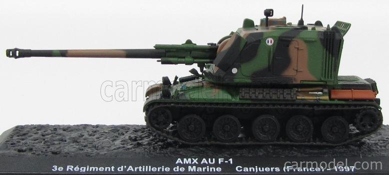 EDICOLA BLINDCOMBAT005 Masstab: 1/72  PANHARD TANK AMX AU F-1 3e REGIMENT D'ARTILLERIE DE MARINE FRANCE CANJUERS 1997 CAMOUFLAGE