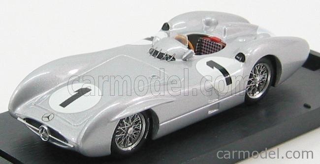 BRUMM R325-UPD Echelle 1/43  MERCEDES BENZ F1  W196C N 1 GP GRAN BRETAGNA J.M. FANGIO 1954 WORLD CHAMPION SILVER
