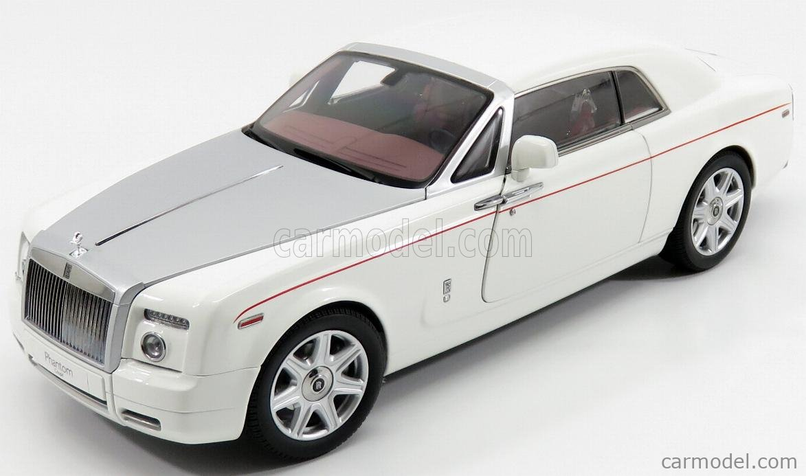 Kyosho 08861ew Scale 1 18 Rolls Royce Phantom Coupe 2 Door 2008 English White Silver