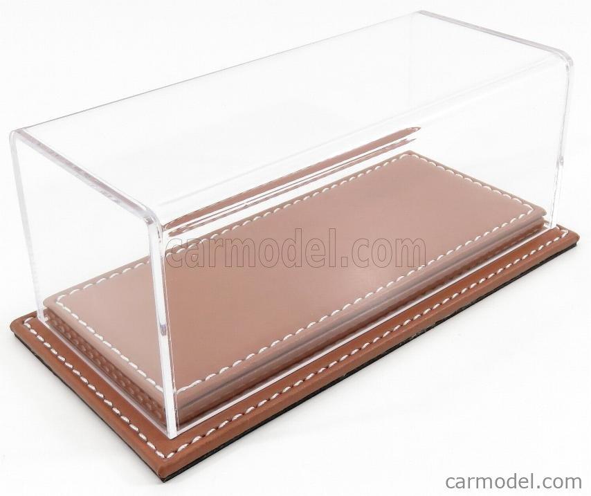 ATLANTIC ATL10083 Масштаб 1/43  VETRINA DISPLAY BOX MOLHOUSE BASE IN PELLE MARRONE - LEATHER BASE BROWN - Lungh.LENGHT cm 17 X Largh.WIDTH cm 8 X Alt.HEIGHT cm 7 (altezza interna 6.2 cm ) PLASTIC DISPLAY