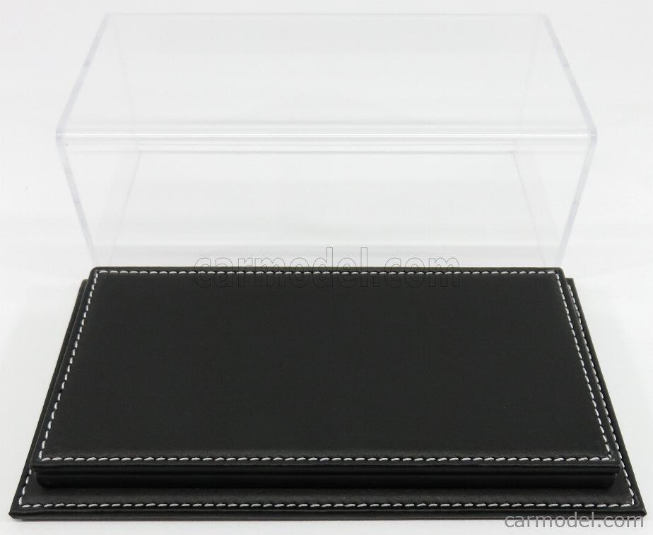 ATLANTIC ATL10079 Масштаб 1/24  VETRINA DISPLAY BOX MOLHOUSE BASE IN PELLE NERA - LEATHER BASE BLACK - Lungh.LENGHT cm 23 X Largh.WIDTH cm 12 X Alt.HEIGHT cm 8.5 (altezza interna 6.7 cm ) PLASTIC DISPLAY