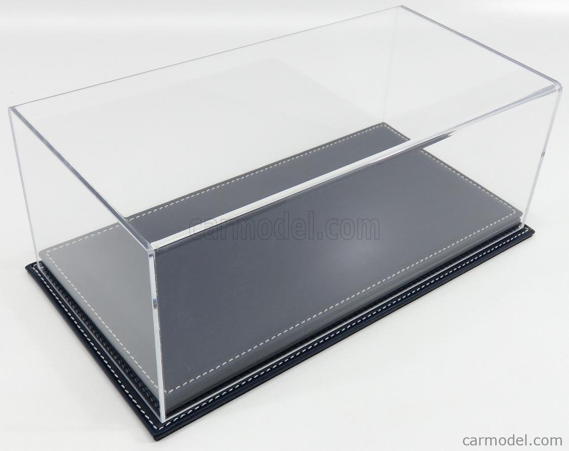ATLANTIC ATL10076 Масштаб 1/18  VETRINA DISPLAY BOX MOLHOUSE BASE IN PELLE - LEATHER BASE BLUE - Lungh.LENGHT cm 32.5 X Largh.WIDTH cm 16.5 X Alt.HEIGHT cm 12.5 (altezza interna 10.6 cm ) PLASTIC DISPLAY