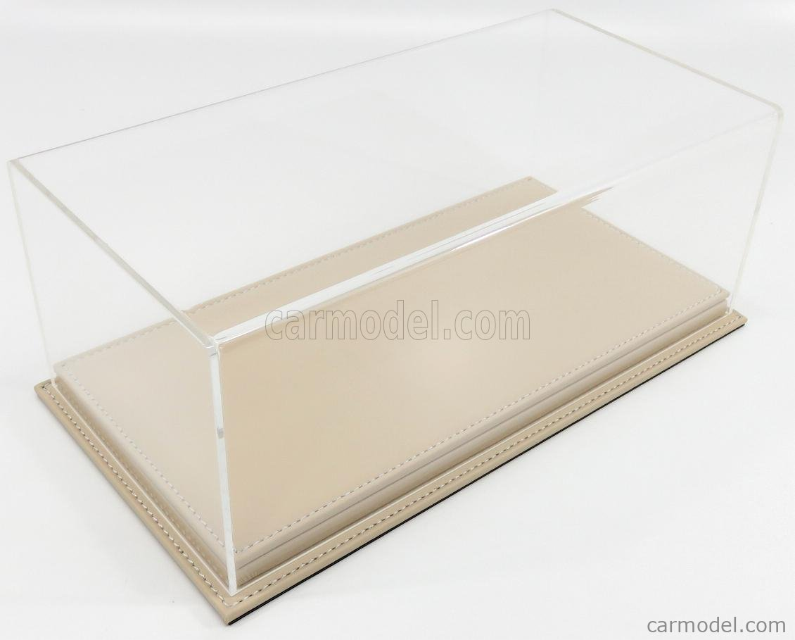ATLANTIC ATL10074 Масштаб 1/18  VETRINA DISPLAY BOX MOLHOUSE BASE IN PELLE - LEATHER BASE BEIGE - Lungh.LENGHT cm 32.5 X Largh.WIDTH cm 16.5 X Alt.HEIGHT cm 12.5 (altezza interna 10.6 cm ) PLASTIC DISPLAY