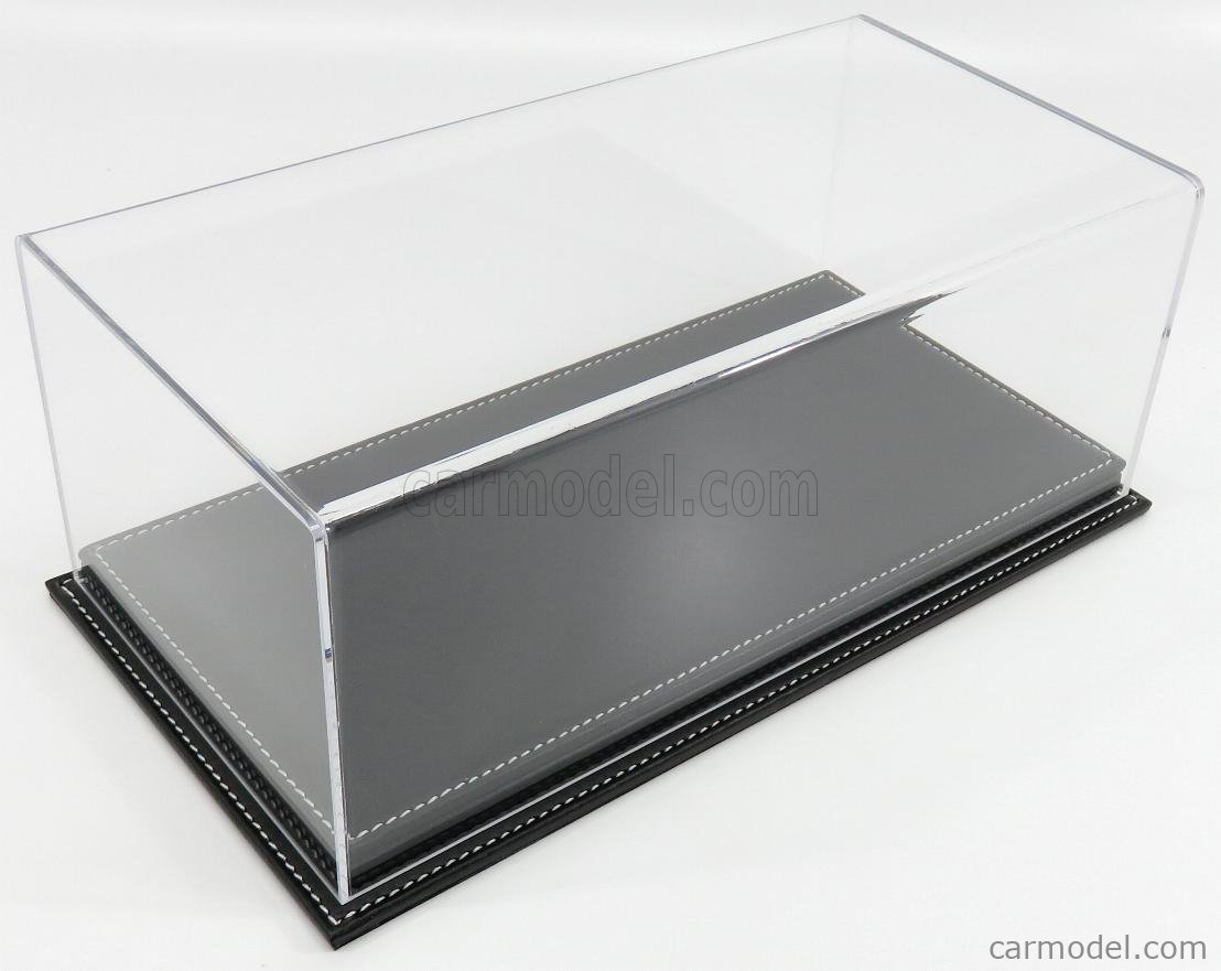 ATLANTIC ATL10073 Масштаб 1/18  VETRINA DISPLAY BOX MOLHOUSE BASE IN PELLE NERA - LEATHER BASE BLACK - Lungh.LENGHT cm 32.5 X Largh.WIDTH cm 16.5 X Alt.HEIGHT cm 12.5 (altezza interna 10.6 cm ) PLASTIC DISPLAY