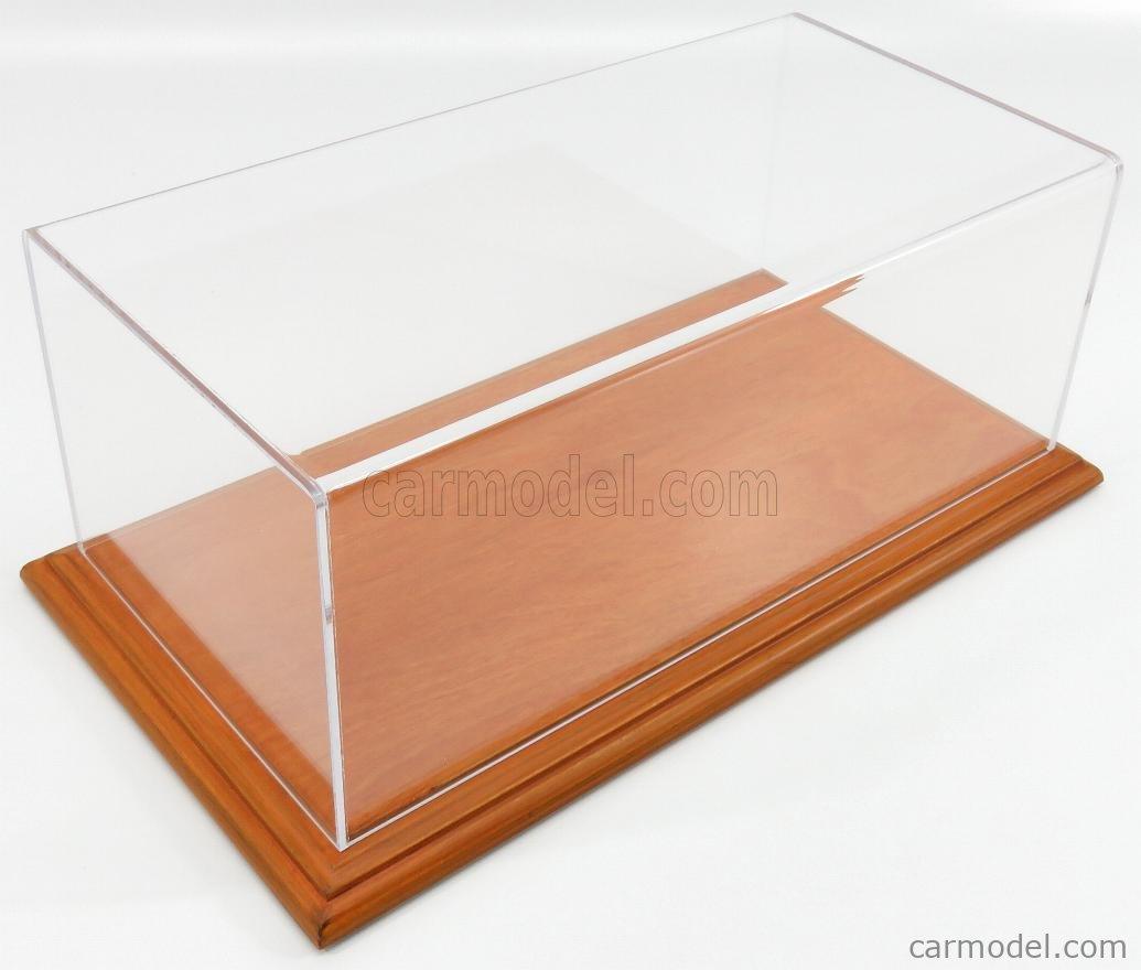 ATLANTIC ATL10058 Масштаб 1/18  VETRINA DISPLAY BOX AICHI BASE IN LEGNO - WOOD CHERRY BASE - Lungh.LENGHT cm 32.5 X Largh.WIDTH cm 16.5 X Alt.HEIGHT cm 12.5 (altezza interna 12 cm ) PLASTIC DISPLAY