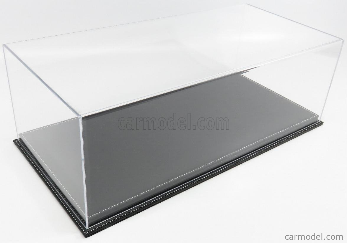 ATLANTIC ATL10092 Масштаб 1/12  VETRINA DISPLAY BOX MOLHOUSE BASE IN PELLE NERA - LEATHER BASE BLACK - Lungh.LENGHT cm 51 X Largh.WIDTH cm 24 X Alt.HEIGHT cm 19 (altezza interna 15.3 cm ) PLASTIC DISPLAY
