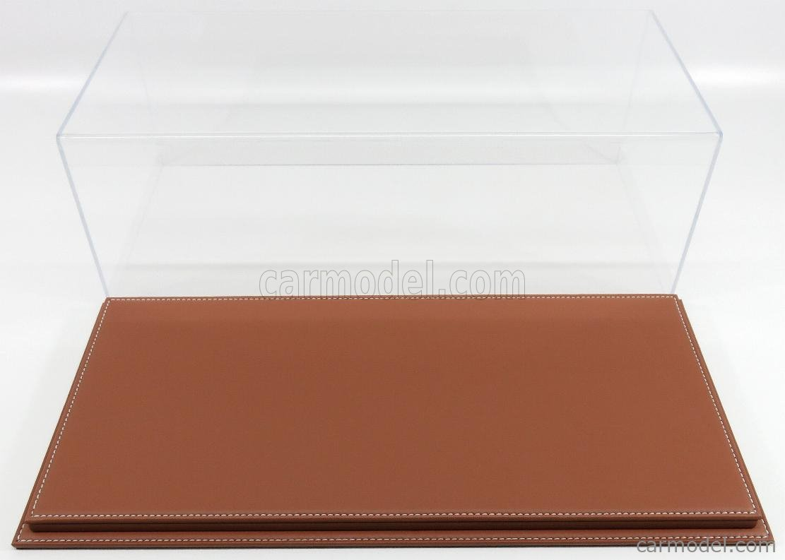 ATLANTIC ATL10090 Масштаб 1/12  VETRINA DISPLAY BOX MOLHOUSE BASE IN PELLE MARRONE - LEATHER BASE BROWN - Lungh.LENGHT cm 51 X Largh.WIDTH cm 24 X Alt.HEIGHT cm 19 (altezza interna 15.3 cm ) PLASTIC DISPLAY