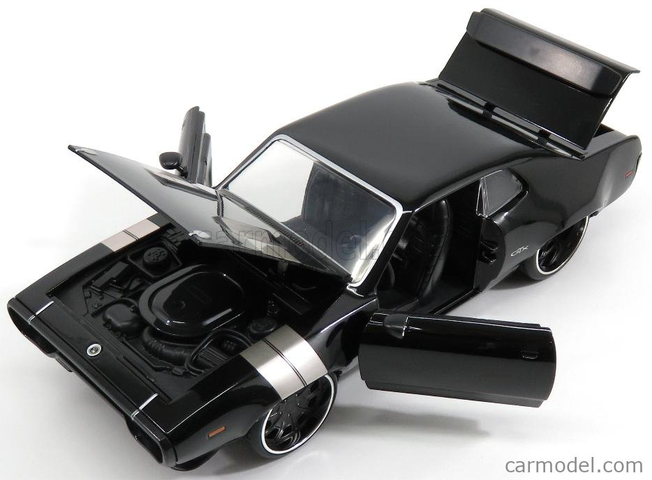 JADA 98292 Scale 1/24  PLYMOUTH DOM'S GTX COUPE 1971 - FAST & FURIOUS 8 2017 BLACK SILVER