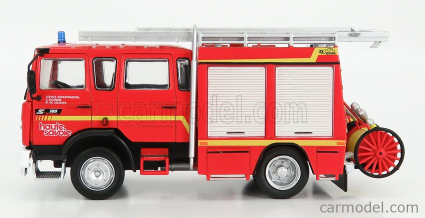 EDICOLA G190E002 Scale 1/43  RENAULT S100 TANKER TRUCK FIRE ENGINE SERVICE DEPARTEMENTAL D'INCENDIE ET DE SECOURS 1981 RED SILVER