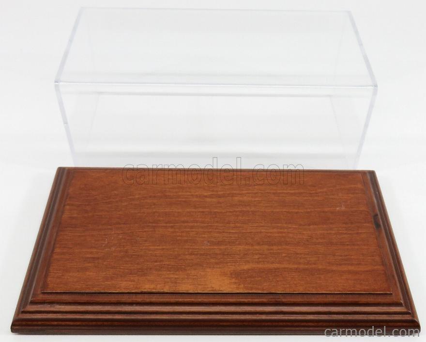 ATLANTIC ATL10054 Масштаб 1/24  VETRINA DISPLAY BOX AICHI BASE IN LEGNO - WOOD MAHOGANY BASE - Lungh.LENGHT cm 23 X Largh.WIDTH cm 12 X Alt.HEIGHT cm 8.5 (altezza interna 8.0 cm ) PLASTIC DISPLAY