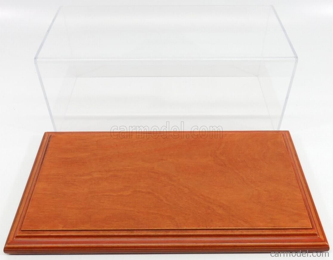 ATLANTIC ATL10048 Масштаб 1/18  VETRINA DISPLAY BOX MOLSHEIM BASE IN LEGNO - WOOD CHERRY BASE - Lungh.LENGHT cm 32.5 X Largh.WIDTH cm 16.5 X Alt.HEIGHT cm 12.5 (altezza interna 12 cm ) PLASTIC DISPLAY