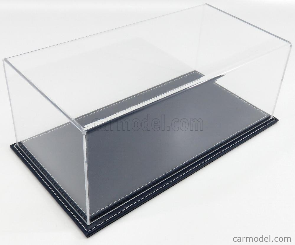 ATLANTIC ATL10016 Масштаб 1/18  VETRINA DISPLAY BOX MARANELLO BASE IN PELLE - LEATHER BASE BLUE - Lungh.LENGHT cm 32.5 X Largh.WIDTH cm 16.5 X Alt.HEIGHT cm 12.5 (altezza interna 11.5 cm ) PLASTIC DISPLAY