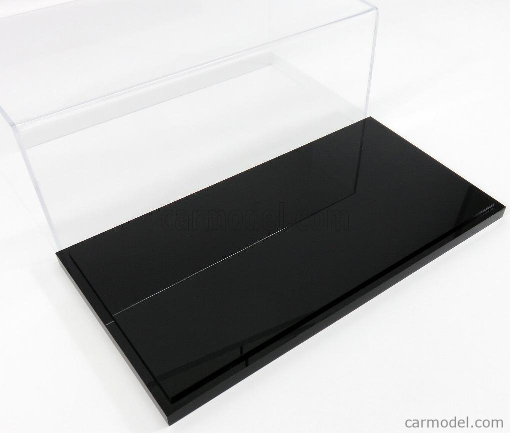 ATLANTIC ATL10002 Масштаб 1/18  VETRINA DISPLAY BOX DETROIT BASE NERA - BLACK BASE - Lungh.LENGHT cm 32.5 X Largh.WIDTH cm 16.5 X Alt.HEIGHT cm 12.5 (altezza interna 12 cm ) PLASTIC DISPLAY