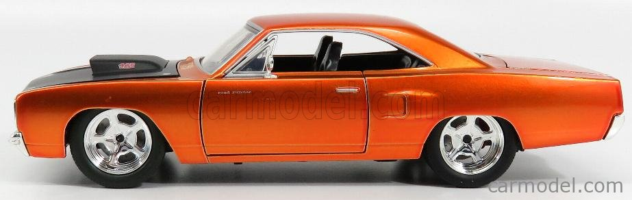JADA 97127-4 Scale 1/24  PLYMOUTH SET 4X DOM'S CHARGER ROAD RUNNER 1970 - FAST & FURIOUS VII COPPER MET BLACK