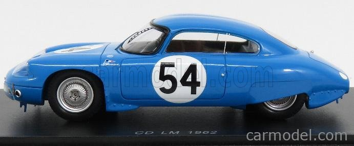 SPARK-MODEL S4711 Masstab: 1/43  PANHARD CD COUPE N 54 24h LE MANS 1962 P.LELONG - J.P.HANRIOUD BLUE