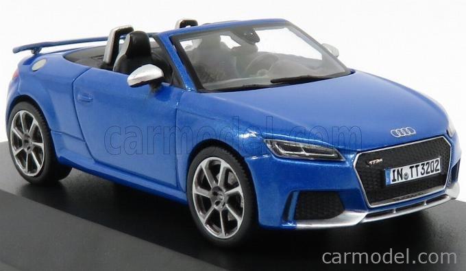 I-SCALE 5011610532 Scale 1/43  AUDI TT RS ROADSTER 2016 ARA BLUE MET