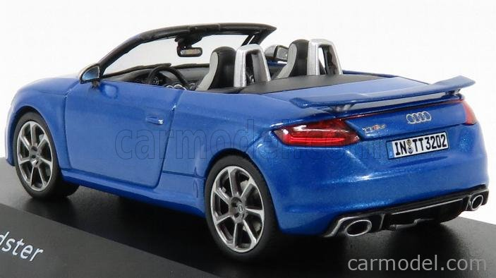 Auto Stradali Die Cast per AUDI TT RS ROADSTER 2016 ARA BLUE 1:43 Norev Modellino