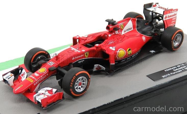 T 2015 Malaysia GP S.Vettel Die cast 1//43 Modellino Auto F1 Ferrari SF15