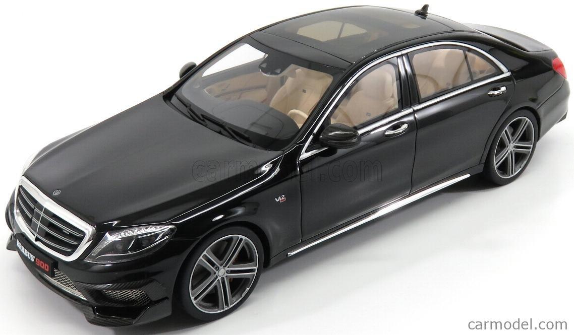 GT Spirit Mercedes-Benz S-Klasse Brabus Rocket 900 Basis S65 AMG Limousine W222 Schwarz Ab 2013 Nr 172 1//18 Modell Auto mit individiuellem Wunschkennzeichen