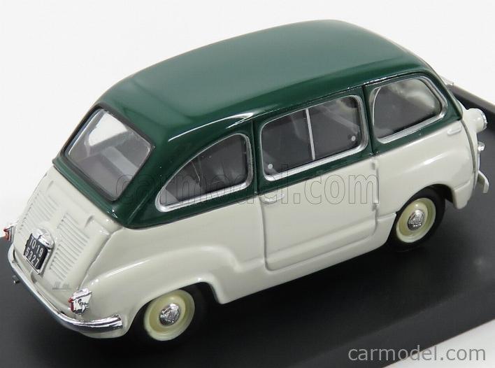 BRUMM R250-14 Echelle 1/43  FIAT 600 MULTIPLA BERLINA I SERIES 1956 GREY GREEN