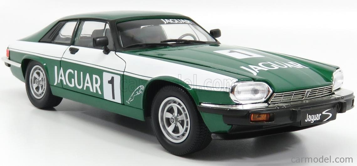 LUCKY-DIECAST LDC92658GNR Scale 1/18  JAGUAR XJS COUPE N 1 RACING EDITION 1975 GREEN