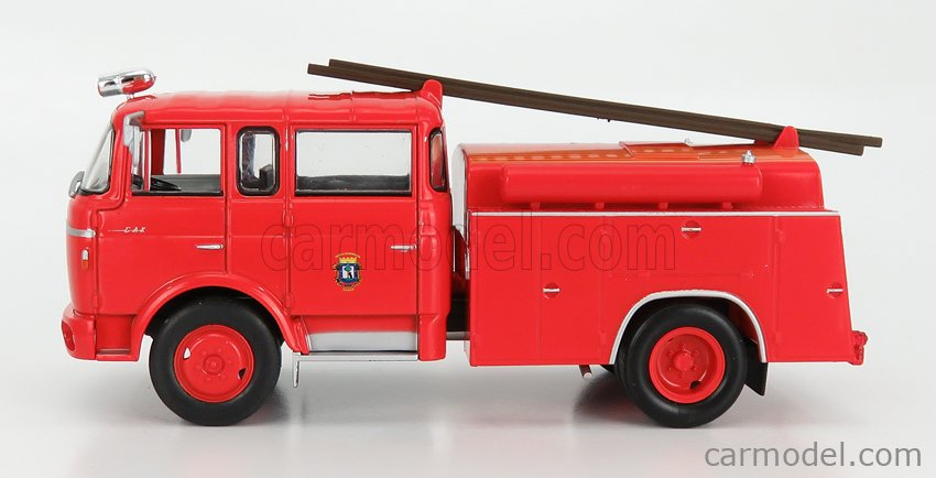 EDICOLA G190E008 Scale 1/43  BERLIET FPT GAK 20H TANKER TRUCK FIRE ENGINE WITH SCALA 1960 RED