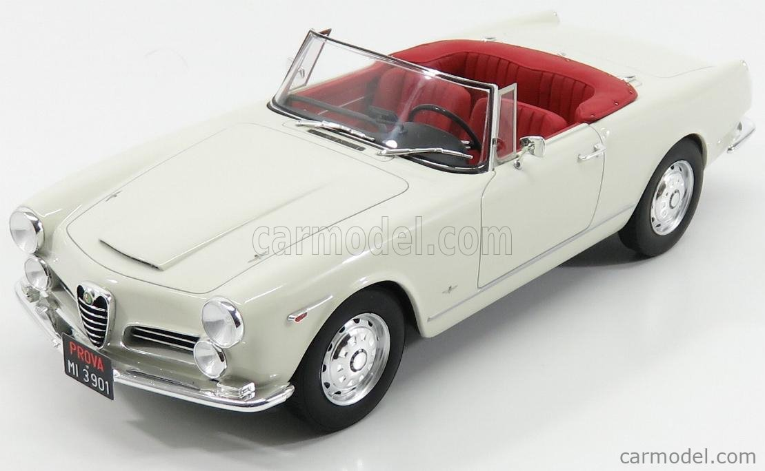 1:18 Cult Scale Alfa Romeo 2600 Spider Touring 1961 White Cult Models NEW