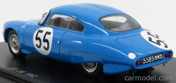 SPARK-MODEL S4712 Masstab: 1/43  PANHARD CD COUPE N 55 24h LE MANS 1962 B.BOYER - G.VERRIER BLUE