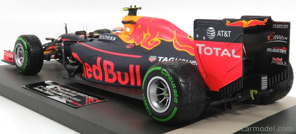 MINICHAMPS 117161233 Масштаб 1/18  RED BULL F1  RB12 TAG HEUER N 33 3rd BRAZILIAN GP 2016 MAX VERSTAPPEN MATT BLUE RED YELLOW