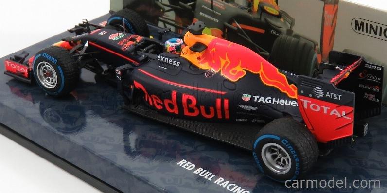 MINICHAMPS 417161203 Масштаб 1/43  RED BULL F1  RB12 TAG HEUER N 3 BRAZILIAN GP 2016 D.RICCIARDO MATT BLUE RED YELLOW