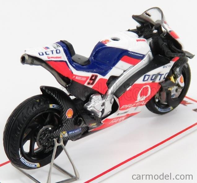 SPARK-MODEL M43018 Scale 1/43  DUCATI GP15 TEAM PRAMAC RACING N 9 CZECH REPUBLIC MOTOGP 2016 D.PETRUCCI WHITE RED