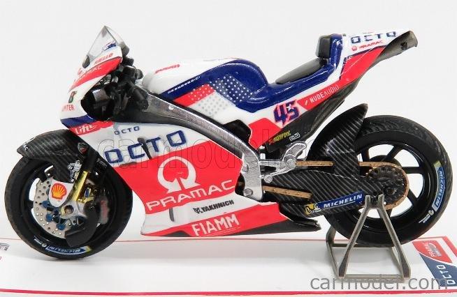 SPARK-MODEL M43017 Scala 1/43  DUCATI GP15 TEAM PRAMAC RACING N 45 3rd NETHERLANDS ASSEN MOTOGP 2016 S.REDDING WHITE RED