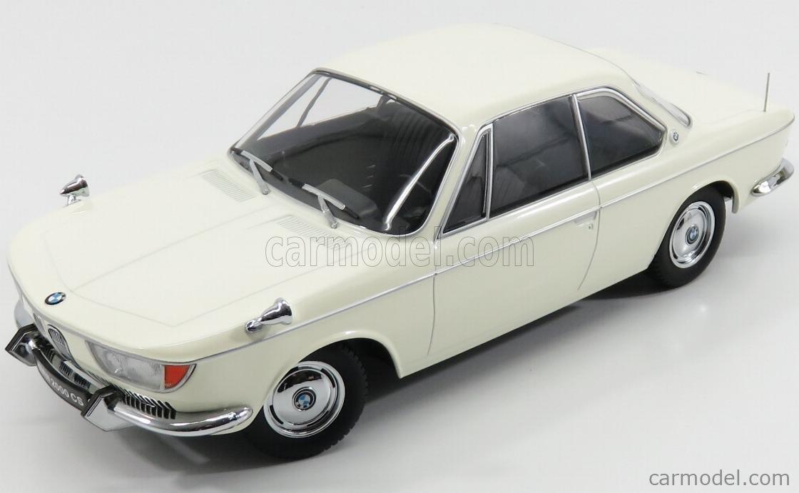 KK-SCALE KKDC180121 Echelle 1/18  BMW 2000 CS COUPE 2-DOOR 1965 CREME