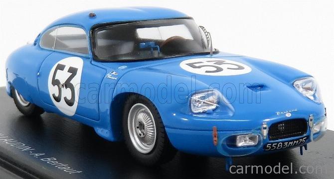 SPARK-MODEL S4710 Masstab: 1/43  PANHARD CD COUPE N 53 24h LE MANS 1962 A.GUILHAUDIN - A.BERTAUT BLUE