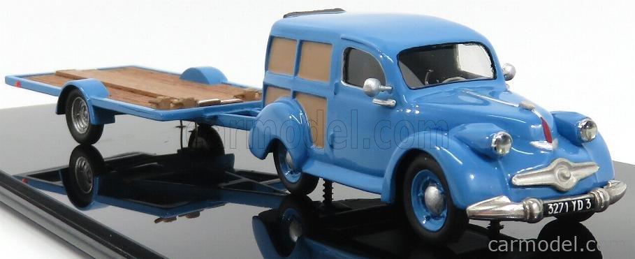 IV-MODEL IVISI012 Masstab: 1/43  PANHARD DYNA X-BREAK ASSISTENZA 24h LE MANS WITH TRAILER 1955 LIGHT BLUE WOOD